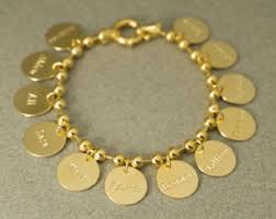 customized gold bracelets custom gold bracelet etsy