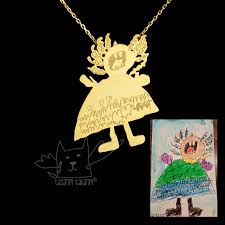personalized children s jewelry personalized jewelry custom made gold plated silver necklaces