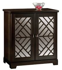 howard miller black console wine and bar cabinet with mirrored