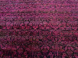 Sari Silk Rugs by 10 U0027 X 13 U0027 Black And Magenta Sari Silk Suzani Design Handmade