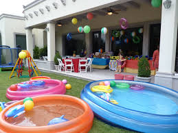 layout backyard 1 kid pool 2 medium pools 1 large pool spiral