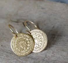 gold disc earrings use coupon code pinit at our etsy shop and receive 15 total