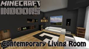 contemporary living room minecraft indoors interior design youtube