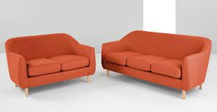Orange Sofa Bed by Tubby 3 Seater Sofa Burnt Orange Made Com