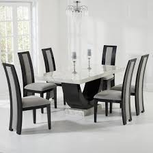 Buy Marble Dining Table And  Chairs Furniture In Fashion - Black and white dining table with chairs