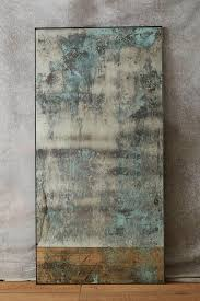 teal washed mirror