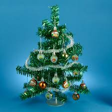 decorating small artificial pine trees tabletop tree