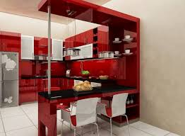 Red And White Kitchen Ideas Kitchen Attractive Cool Modern Red Kitchen Design With Black