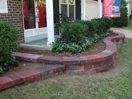 red brick on front garden landscape pavers landscaping design