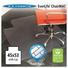 Chair Mat For Hard Floors Es Robbins 45x53 Lip Chair Mat Multi Task Series For Hard Floors