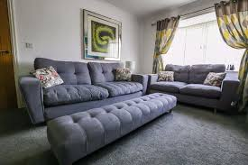 Contemporary DFS Beckett  And  Seater Sofa Chair And Footstool - Sofa and footstool