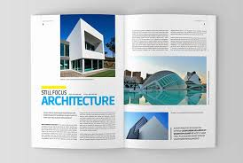 architecture magazine template on behance
