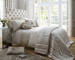 luxury bedding duchess oyster luxury bedding range with crushed velvet panel