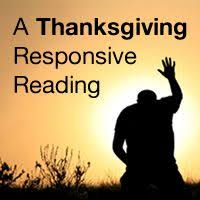 the script a thanksgiving responsive reading this is a