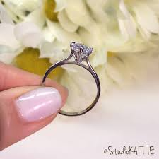 cathedral setting 1 ctw brilliant cut solitaire engagement ring 4 prong