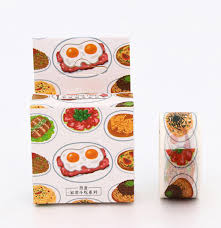 masking cuisine 2cm wide delicious food noodle washi diy decoration