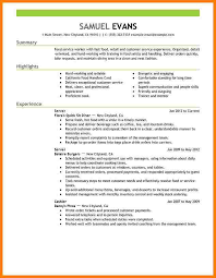 Food Server Resume Examples by Curriculum Vitae Resume Sample For Waitress No Experience 10