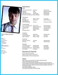acting resume templates resume examples templates free sample