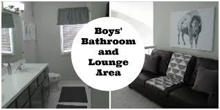 home decor and renovation boys u0027 bathroom and lounge area youtube