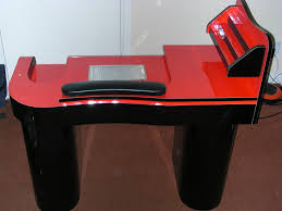 manicure nail table station elegant manicure tables for your nail shop the new way home decor