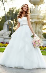 strapless organza ball gown wedding dress stella york ball