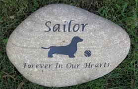 pet memorial stones dachshund memorial dachshund memory 10 11 inch pet memoria