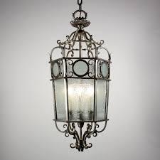 Lantern Chandelier Lighting Large Antique Deco Six Light Lantern Chandelier With Original