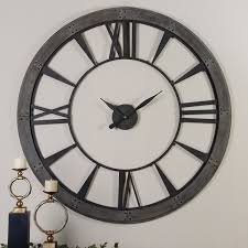 uttermost amelie 60 in large wall clock hayneedle