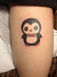 cartoon couple tattoos cute penguin tattoo standing on ice floe tattooimages biz