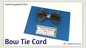 diy father u0027s day crafts handmade card bow tie card easy