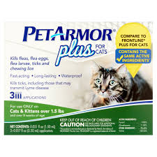pet armor plus flea and tick protection for cats 3 monthly doses