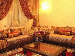 tissu canapé marocain salon marocain sahraoui meilleur idées de conception de maison