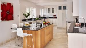 shaker kitchen island kitchen design white shaker kitchen with oak island gallery