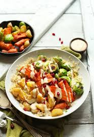 Roast Vegetables Recipe by Roasted Vegetable Quinoa Harvest Bowls Minimalist Baker Recipes
