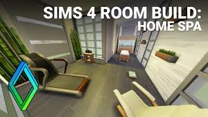 home spa room sims 4 home spa room build youtube