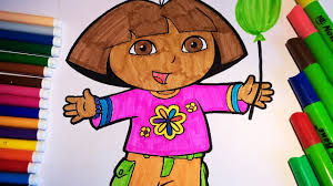 dora the explorer coloring pages for kids dora in a suit with