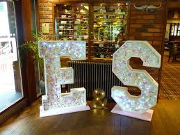 wedding backdrop letters light up flower letters backdrops by petals in