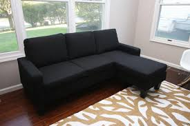 sectional sofa with chaise lounge black fabric sectional sofa w reversible chaise lounge living