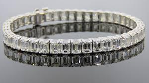 make diamond bracelet images Emerald cut diamond tennis bracelet andrew fabrikant sons jpg