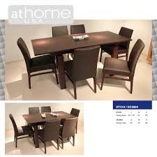 dt318 modern extendable dining table by at home usa free shipping