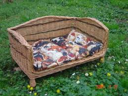 canapé lit pour chien canape lit pour votre chien le de vannerie