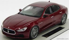 red maserati topmarques top008d scale 1 18 maserati ghibli 4 door 2013 rosso