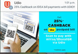 Idea Cellular Bill Desk 25 Cashback On Idea Post Paid Bill Payment Scan To Pay Using