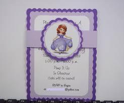 sofia birthday invitations timberlysdesigns artfire