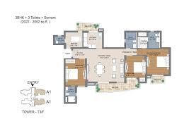 floor plans of bptp the resort sector 75 faridabad