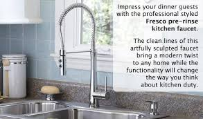 pre rinse kitchen faucets shop giagni fresco stainless steel 1 handle deck mount pre rinse