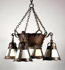 Arts Crafts Lighting Fixtures Arts And Crafts Chandeliers Antique Antique Rod Hung Arts Crafts