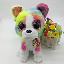 shop isla rainbow dog ty beanie boos 25cm 10