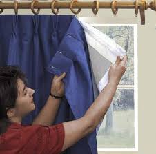 How To Attach Blackout Lining To Curtains Thermalogic Thermal Blackout Curtain Liner Attaches With No Sewing