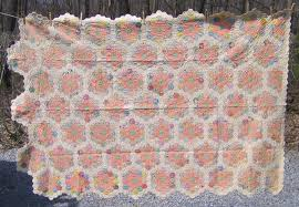 pair of grandmother u0027s flower garden quilts